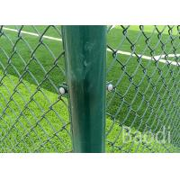 Green Color Cyclone Chain Link Mesh Fence 1.5mm - 4mm Wire Packed In Roll