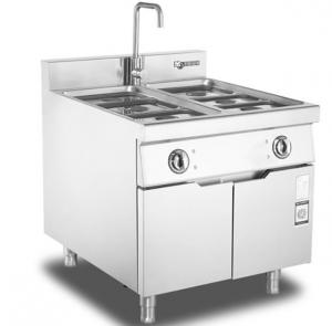 China Stainless steel Buffet Counter food cooking stove electric Bain Marie food warmer With Cabinet on sale