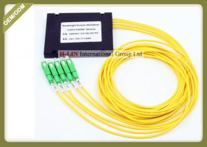 China 1610nm Wavelength Division Multiplexer 4 Channel Fiber Optic CWDM With SC APC Connector on sale