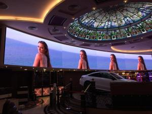 China Audio Visual P3 Curved LED Video Wall , Front Service Big LED Screen for Casino on sale