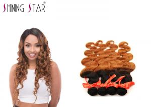 China 4 Pcs Brazilian Body Wave Human Hair , Ombre 24 Inch Body Wave Weave on sale