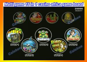 China Africa Multi 16 IN 1 Casino Board Games Casino Slot Machine Games gambling machine games casino video slot machines on sale