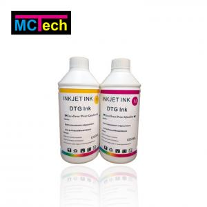 China polyprint texjet plus dtg textileWhite Pigment DTG Ink For Epson 1400 on sale