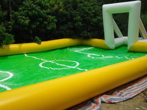 China Entertainment inflatable football game / Soccer Field for Playing Football Games on sale