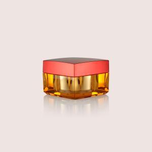 China Square Face Cream Jars / 15ML 30ML 50ML Plastic Cream Containers on sale