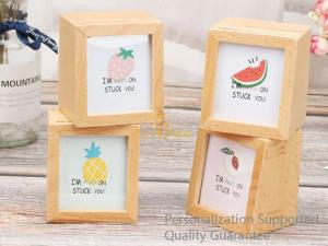 China Natural Beech Wood Blank Personalized Wooden Shadow Photo Frame Box, Small Order, Laser Engrave, Quality Guarantee on sale