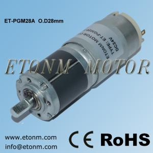 China ETONM 24v dc motor with planetary gearbox ET-PGM28-A on sale