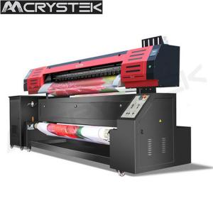 China CRYSTEK Textile printer CT-TX1802 sublimation printer CMKY colors dual Epson dx5 printhead printing on sale
