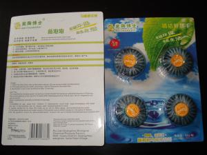 China Green Life Go Touch Toilet Cistern Blocks Cleaner 4pcs/pack on sale