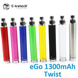 China Pink Slim Variable Voltage Electronic Cigarette , 1300mah Ego C Twist Battery on sale