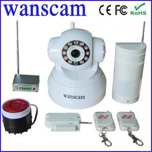 China Wanscam newest model Wireless Alarm System with IP Camera and Sensors linkage box IP Camera on sale