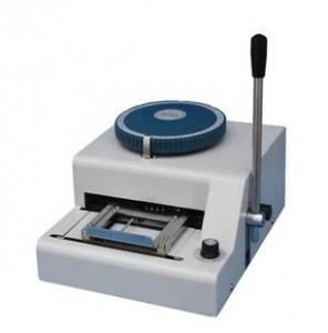China Manual bank cards code printer / Convex Code Printer / PVC Card Embossing Machine on sale