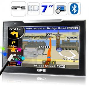China 7inch GPS navigator with Bluetooth on sale