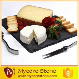 China natural slate stone pizza stone slate cheese board with best price on sale