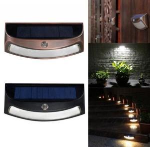 China LED Solar Lights Waterproof Light Sensor Wall Lamp for Outdoor Yard Garden - White Black on sale