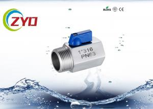 China Threaded Stainless Steel Shut Off Valve For Pneuma / Water High Pressure on sale