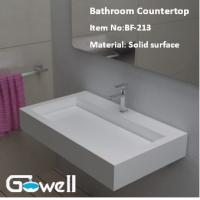 China Acrylic Solid Surface Bathroom Vanity Top on sale