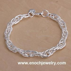 China Silver long chain linked friendship bracelets for sale on sale