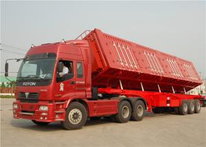 China 3 axle 40T 40 tons Side Tipper Trailer Hydraulic Cylinder Side Tipper Dump Semitrailer on sale