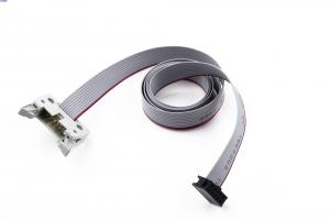 China 2 * 5 Pins IDC Ribbon Cable Assemblies , 2.54 Mm Pitch Ribbon Cable  PVC Material on sale