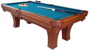 China Deluxe 96 Inches Billiard Game Table With Leather Pocket / Wool Felt Play Court on sale