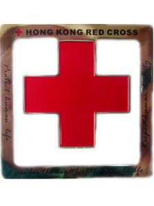China Souvenir Red cross logo metal bookmarks, stainless iron Personalised Bookmarks on sale