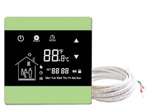 China Underfloor heating wall thermostats floor heating thermostat controller with touch screen with NTC sensor on sale