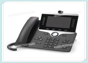 China 5 High Resolution CP-8845-K9 Cisco IP Video Phone 8800 WVGA Voice Mail CE Standard on sale