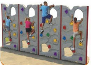 China Customized Color Kids Plastic Climbing Wall For Park Environmental Protection on sale