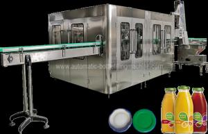 China Automatic Juice Flavor Glass Bottle Filling Machine , Water Bottling Equipment / Line on sale
