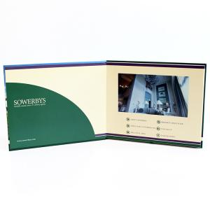 China Video in folder Free Sample Limited Automatic opening veremonies lcd video brochure card with multimedia effect on sale