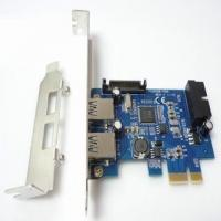 2 Ports USB3.0+20pin 19pin USB3.0 PCIe Express Card