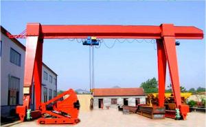 China 10 Ton Single Beam Gantry Crane High Efficiency Safety For Industrial Factory on sale