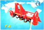 Rotary tiller with friction pto shaft chain driving cultivators