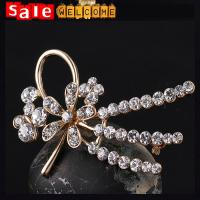 Long Crystal Golden Brooch for Women Wholesale ,Cardigan Sweater Pin Shawl Buckle Brooches