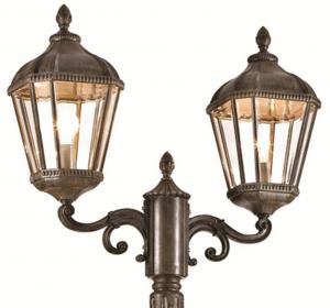 China Classic Aluminum And Glass Outdoor Pole Lamps Aluminium Collumn Lights 110 - 220 V on sale