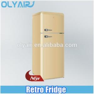 China BCD-210 retro fridge, double door refrigerator, colorful refrigerator on sale