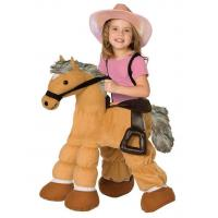 Ride a Pony Child Costume Carry Me Mascot Fancy Dress for Party
