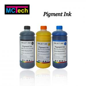 China Waterproof water based pigment ink for epson dx5 7890 9890 r230 sc t5200 l110 in printing inks on sale
