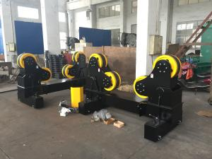 China Black Painting Moving Type Pipe Welding Rollers Coating With Rubber , 60Ton Capacity on sale