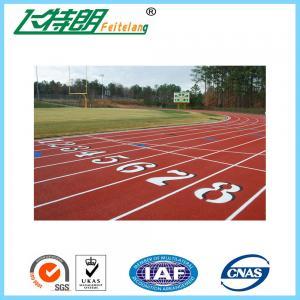 China Polyurethane Athletic Running Track Flooring / Synthetic Rubber Track Flooring Jogging Track on sale