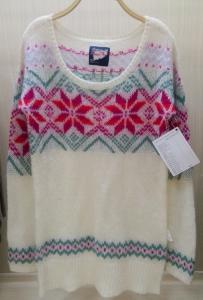 China OEM Service For Alpaca Sweater Ladies Knitted Colorful Pattern Mohair / Acylic on sale