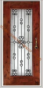 China handmade glass  wrought iron panels glass for doors 25mm America good selling on sale