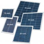 30 Watt Silicon Solar Panels High Efficiency For Solar Street Light Motion Sensor