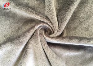 China 100 % Polyester Minky Cuddle Super Plush Fabric , Plain Minky Fleece Fabric on sale