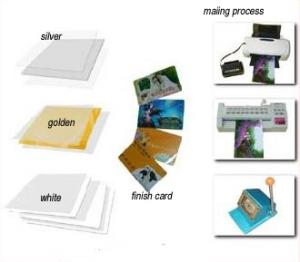 China instant pvc card material on sale