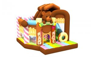 China 5-10 Children Inflatable Jump House / Little Bear Inflatable Combo on sale