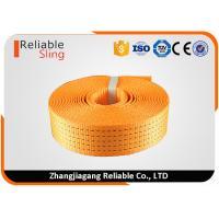 EN Standard Colorful High Tensile Polyester Ratchet Strap Webbing / Flat Weaving Sling