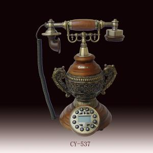 China resin antique telephone with vintage style for office decoration on sale