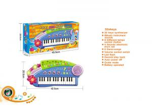 China Blue 32 Keys Electric Keyboard Children's Play Toys Piano Instrument 37 Synthesizer on sale